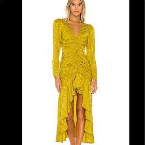 Lovers + Friends  Cairo dress in citron color L